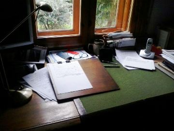El escritorio de Ramiro Pinilla