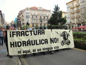 Manifestación contra el Fracking en Cantabria.