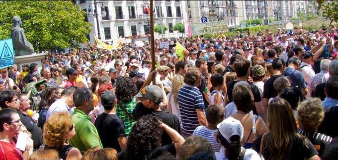 Manifestación en Santander contra el fracking el pasado mes de febrero