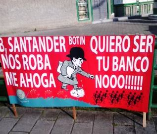 Pancarta Banco Santander