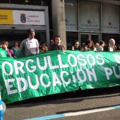 Protesta en defensa de la educación pública