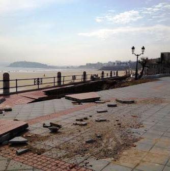 Daños causados en el Sardinero por el temporal de 2014