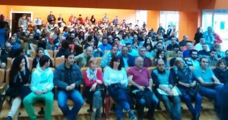 Círculo de Podemos en Santaner reunido tras las elecciones europeas