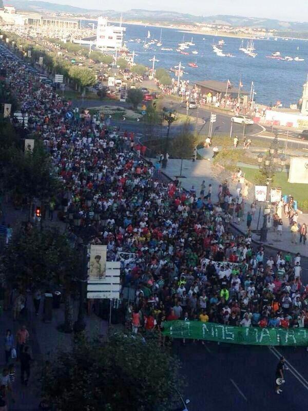 Manifestación en defensa del Racing de Santander