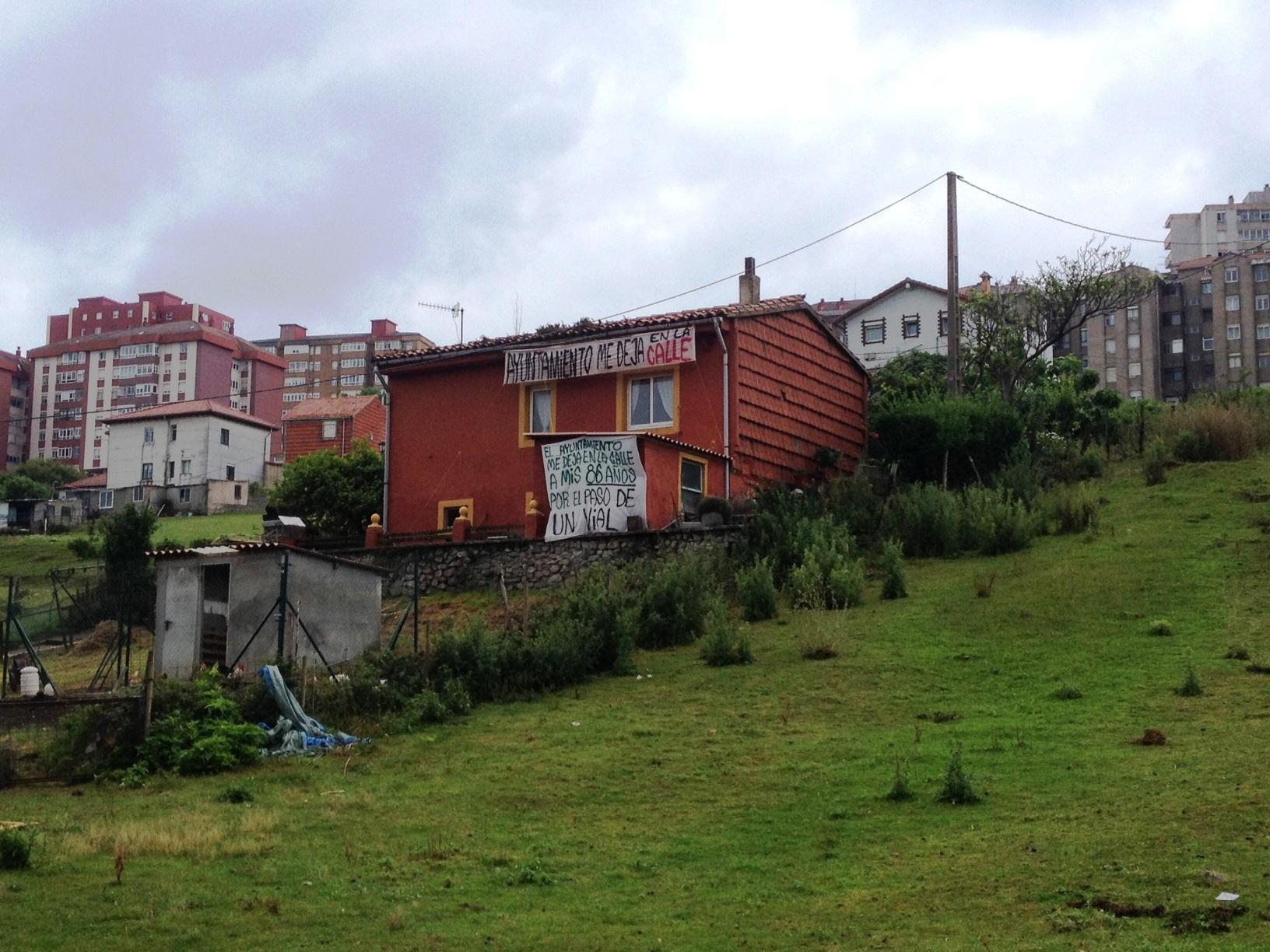La vivienda de Amparo, que finalmente en febrero fue destruída