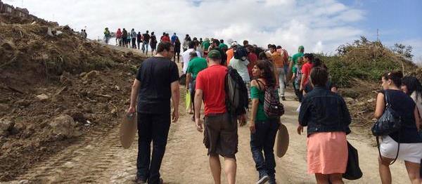 Concentración para paralizar las obras en la Vaguada de Las Llamas