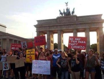 Protesta de jóvenes en Berlín