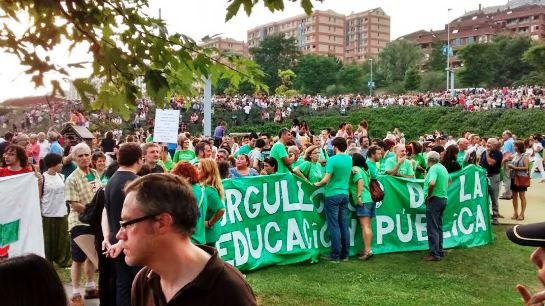 Activistas en defensa de la educación pública