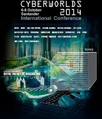 Vista de la página web del Congreso Internacional Cyberworlds 2014