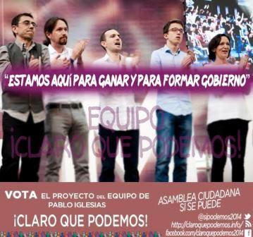 Pablo Iglesias y su equipo