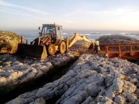 Las obras en la senda costera, ya paradas