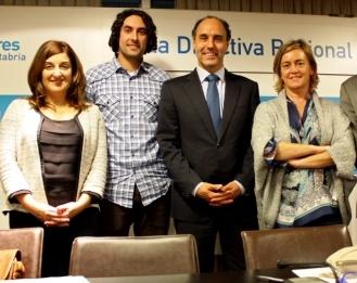 Javier Fernández Soberón, María José Sáenz de Buruaga, Ignacio Diego y María Luisa Peón