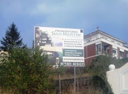 Promoción de viviendas a cargo de Sadisa, una de las empresas con más terrenos en la zona.