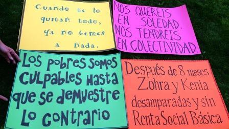 Protesta por la renta básica