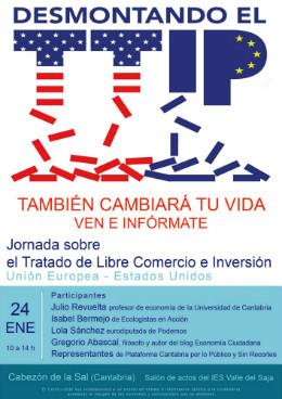 Cartel de la Jornada que se celebrará en el IES Valle del Saja.