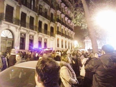 Concentración en Madrid en solidaridad con 'Charlie Hebdo'