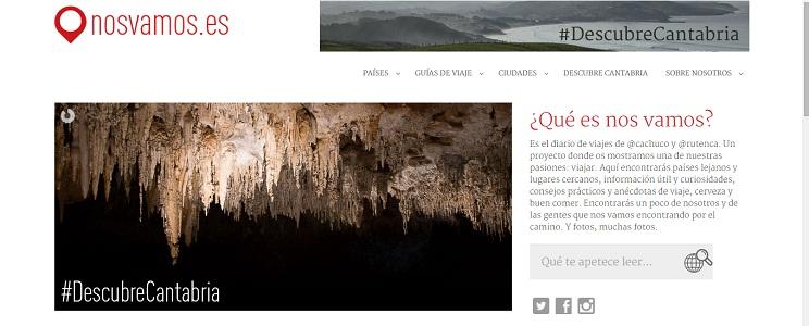 La nuevo portada cuenta con secciones separadas por países, ciudades, guías de viaje, Descubre Cantabria y un apartado de presentación.