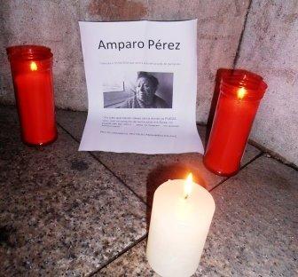 Alguien ha puesto velas por Amparo en el Ayuntamiento de Santander
