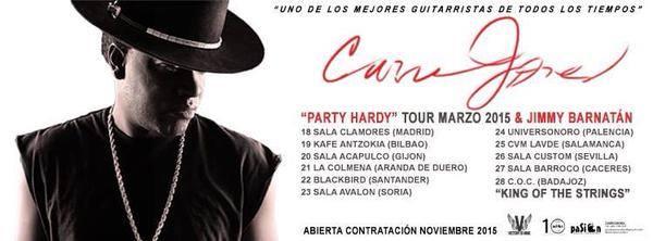 Lista de conciertos que ya tiene confirmados Jimmy Barnatán para esta gira.