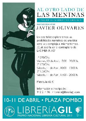 Cartel de presentación del taller impartido por Javier Olivares.