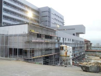 Obras en el hospital Valdecilla.