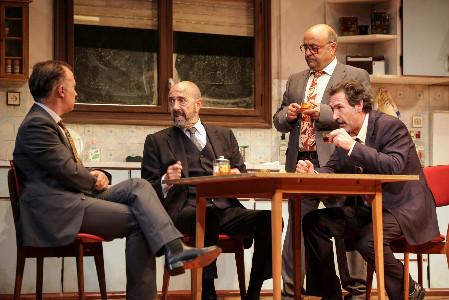 Jesús Castejón, Luis Bermejo, Ginés García Millán y Miguel Rellán dan vida a los protagonistas de 'Jugadores'.
