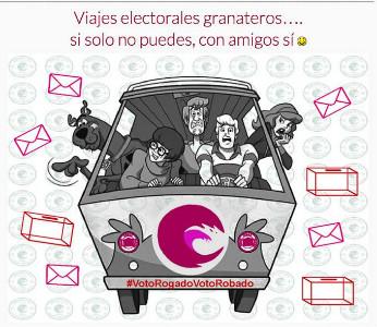 Los viajes electorales granateros están organizados para facilitar a los migrados el desplazarse hasta sus Consulados para pedir su derecho a voto.
