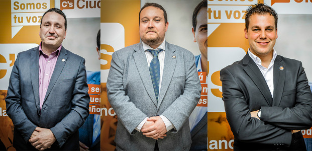 Rubén Gómez (centro) será elegido, previsiblemente, candidato a la Presidencia junto a Juan Ramón Carrancio (izquierda) de número 2 y Esteban Martínez (derecha) de número 3.