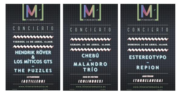 Conciertos que se celebraron el primer fin de semana del I Ciclo Musical Itinerarte.