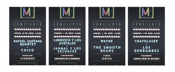 Conciertos que se celebrarán este segundo fin de semana del I Ciclo Musical Itinerarte.