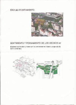 Proyecto alternativo al PGOU que ha presentado uno de los vecinos en el Ayuntamiento.