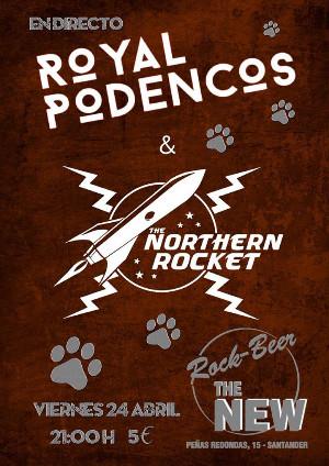 Rock&Roll auténtico con Royal Podencos en la sala Rock Beer the New.