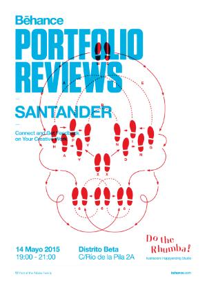 Cartel de presentación de la 3ª edición de Behance Reviews Santander.