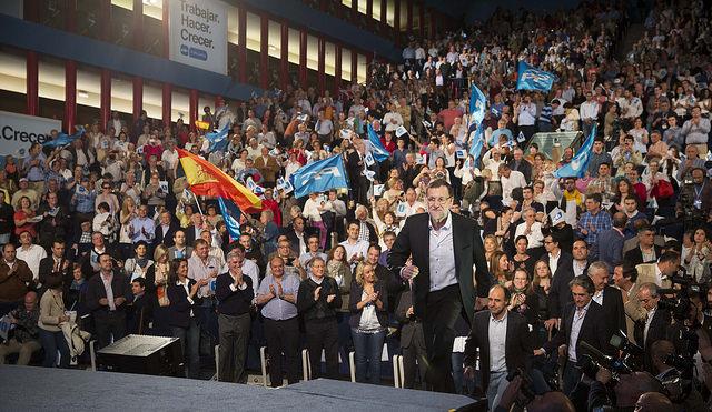 Mariano Rajoy en el mitin de Santander. Foto: Partido Popular.