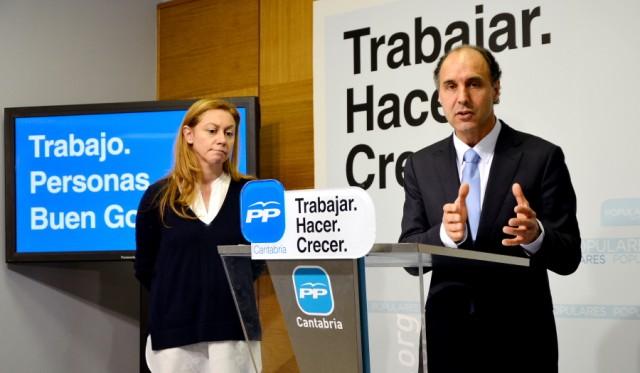 Ignacio Diego y Cristina Mazas en la presentación del programa electoral