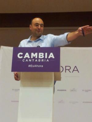 Jose Ramón Blanco, candidato de Podemos a la Presidencia de Cantabria.