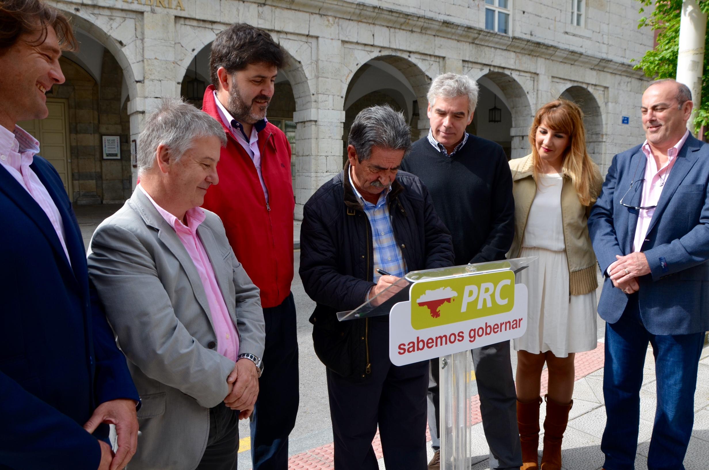 El PRC en un acto de campaña este fin de semana