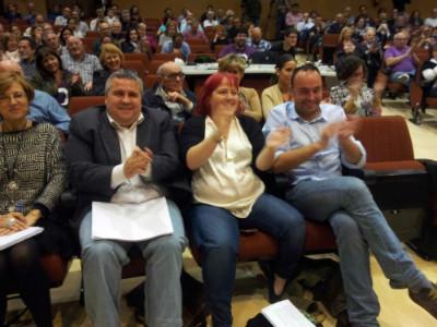 De derecha y izquierda, los tres primeros candidatos de Podemos al Parlamento.