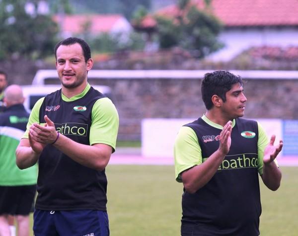 Facundo Núñez (a la izquierda) durante la concentración del Bathco Rugby Club este fin de semana (Foto: Luz Fierro)