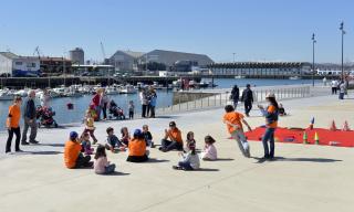 Grupo de niños en una actividad de tiempo libre la pasada Semana Santa en Santander.