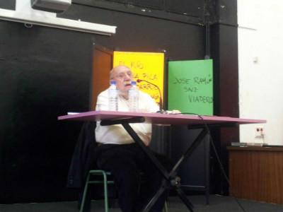 José Ramón Saiz Viadero en la charla de esta tarde.