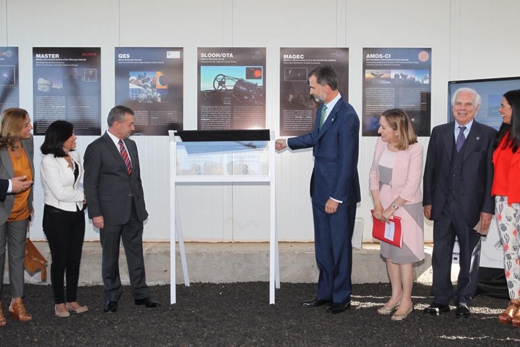 Felipe VI en la inauguración del proyecto Quijote, con participación del IFCA