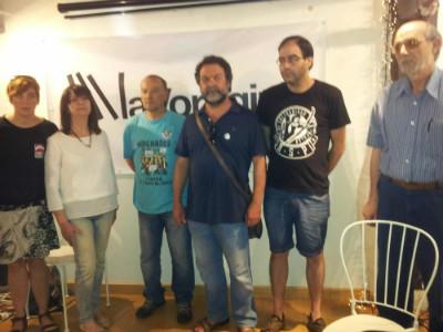 Parte del comité de organización de Libres, esta mañana en La Vorágine.