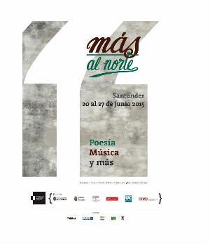 Cartel del festival literatio 'Más al norte'.