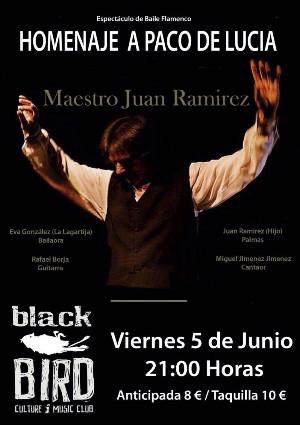 Este viernes, homenaje a Paco de Lucía en la sala Blackbird Club.