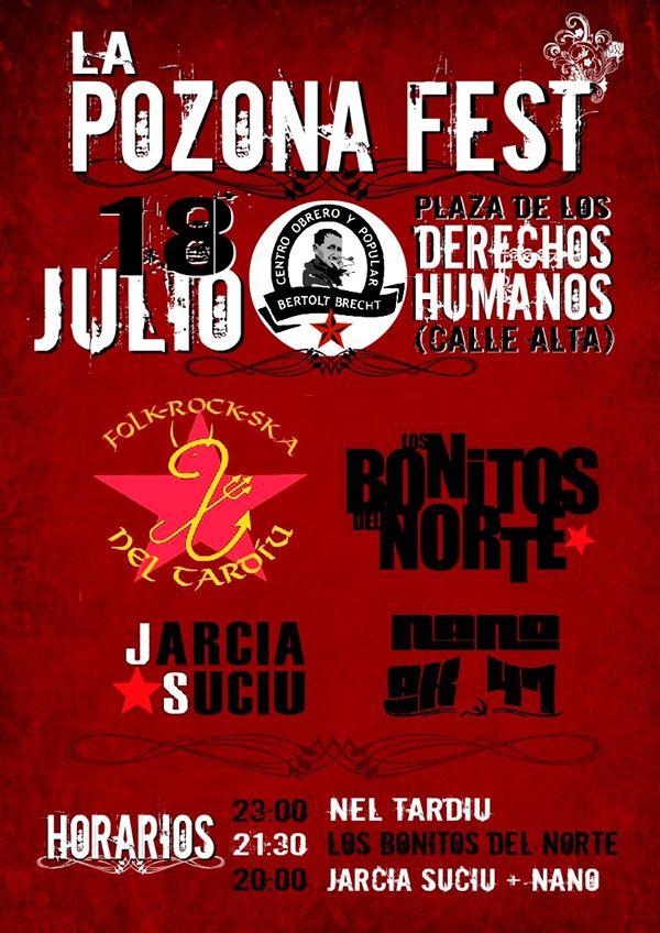 'La Ponzona Fest', el cartel de las Fiestas Alternativas de Santander.