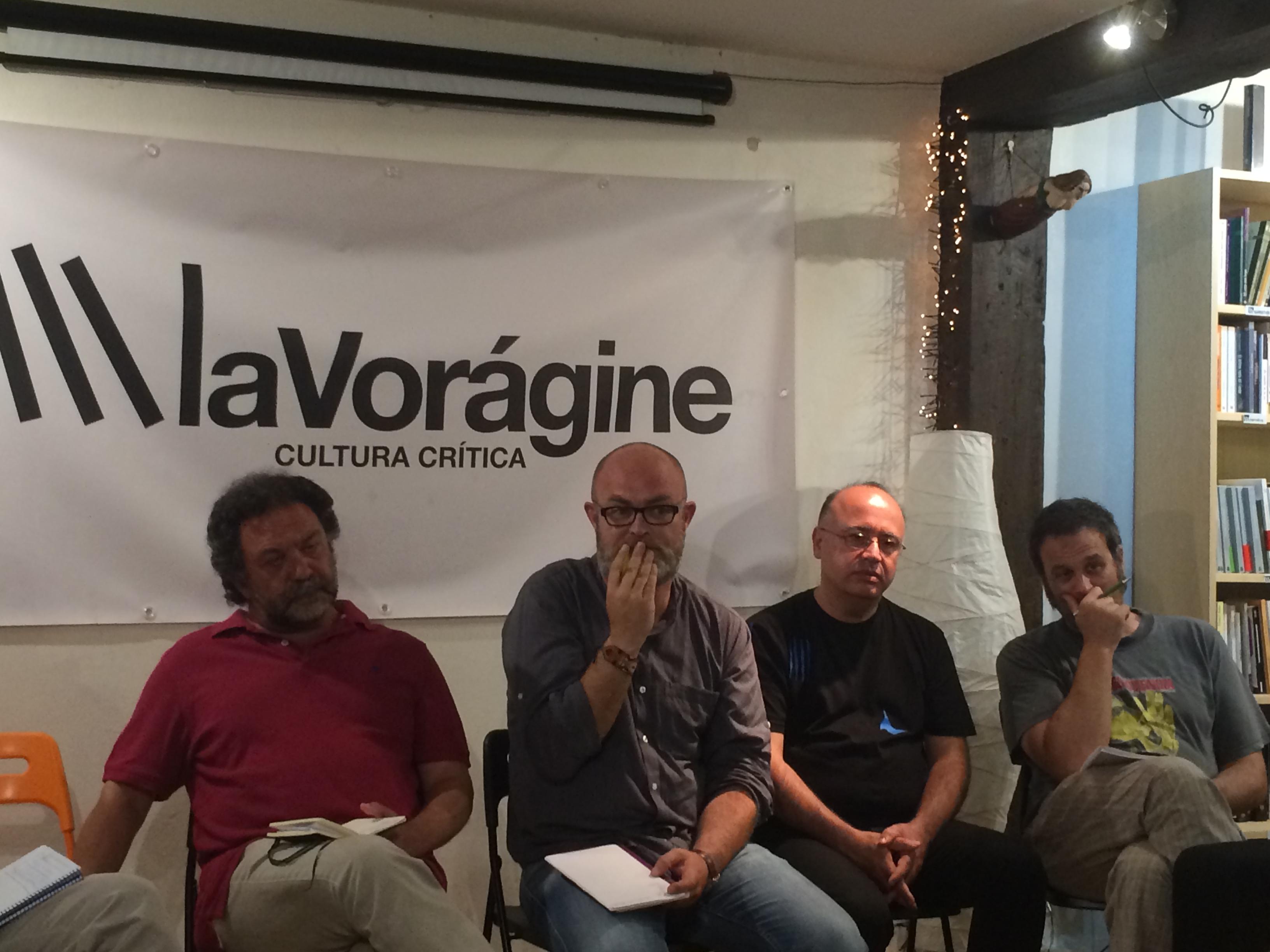 Paco Gómez Nadal y  Manolo Corbera en la reunión.