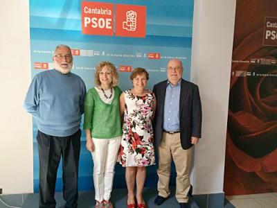 Ramón Ruiz, Eva Díaz Tezanos, María Luisa Real y Juan José Sota.