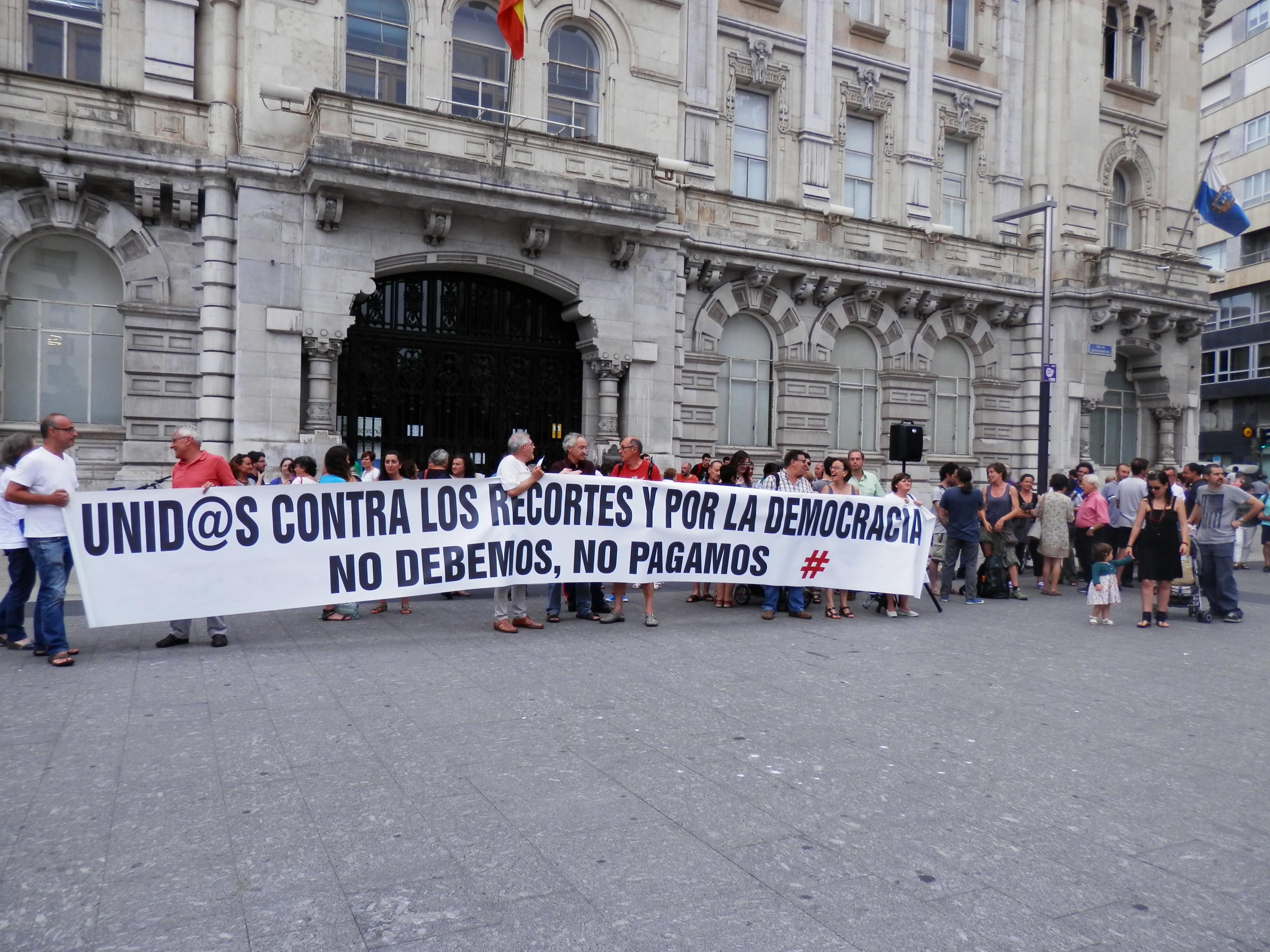 Concentración de apoyo a Grecia en Santander