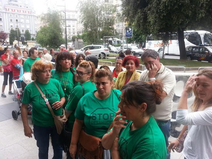 Activistas antidesahucios